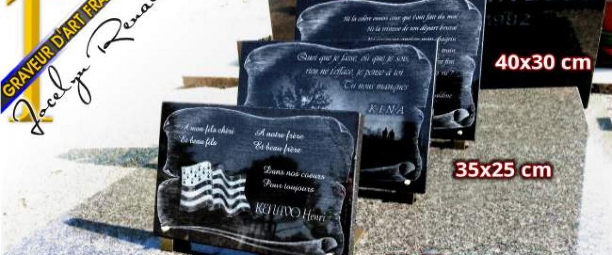 Plaque funéraire pour un dernier hommage